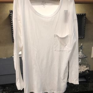 J. Crew White Long Sleeved T-Shirt XL